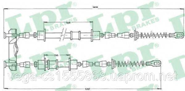 Трос ручного тормоза LPR C0572B на Opel Astra / Опель Астра