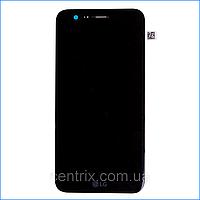 Дисплей (экран) для LG M250 K10 (2017)/X400 + тачскрин, черный, с передней панелью, оригинал