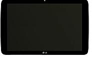 Дисплей (экран) для LG V700 G Pad 10.1 + тачскрин, черный, с передней панелью, оригинал