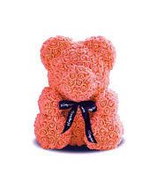 Мишка розы персиковый купить в Украине 25 см 3D медведь розы купить, Teddy Rose,купить в Украине (Teddy Rose)