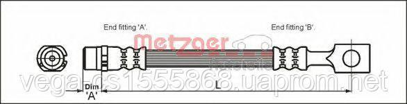 Тормозной шланг Metzger 4112818 на Opel Astra / Опель Астра