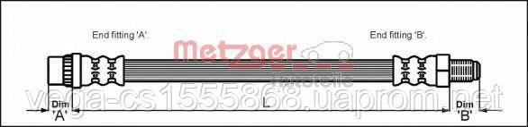 Тормозной шланг Metzger 4114639 на Opel Vivaro / Опель Виваро