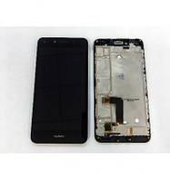 Дисплей (экран) для Huawei Y5 II (CUN-U29)/Honor 5/Honor Play 5 + тачскрин, черный, с передней панелью