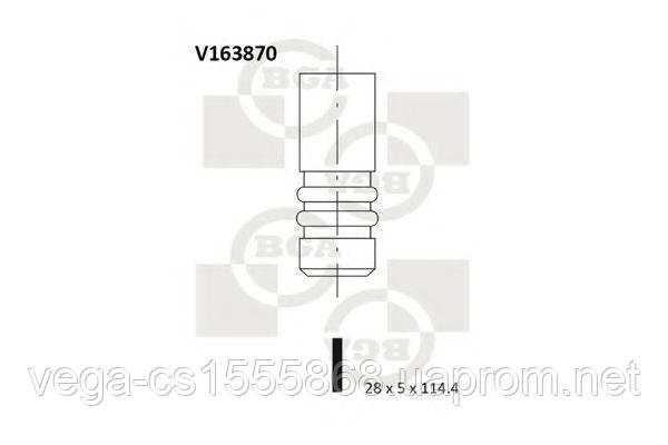 Впускной клапан BGA V163870 на Opel Astra / Опель Астра