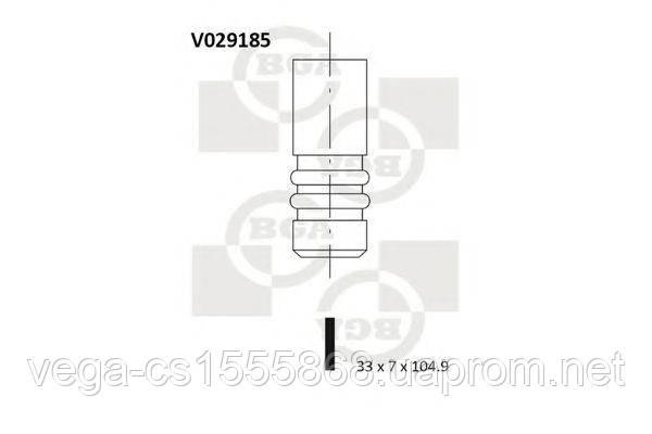 Впускной клапан BGA V029185 на Opel Astra / Опель Астра