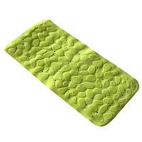 Коврик в ванную комнату антискользящий резиновый 36х75 см Bathlux Green Leaves 40246 - 132561