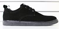 Туфли мужские черные из натурального нубука, фото 1