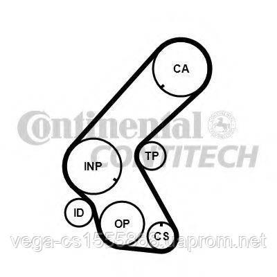 Ремень ГРМ Contitech CT1078 на Opel Astra / Опель Астра