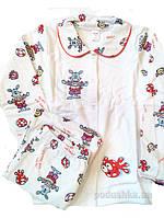 Пижама для девочки Красные Зайцы ТМ Niso Baby 603ADr 116