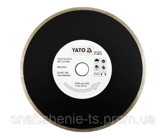 Диск отрезной алмазный для мокрого реза 230 x 2,7 x 5,3 x 22,2 мм YATO