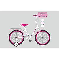 Детский двухколесный велосипед для девочкиPROFI 16 дюймов, Flower Y1685