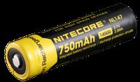 Аккумулятор литиевый Li-Ion 14500 NL147 3.7V (750mAh), защищенный (123880)