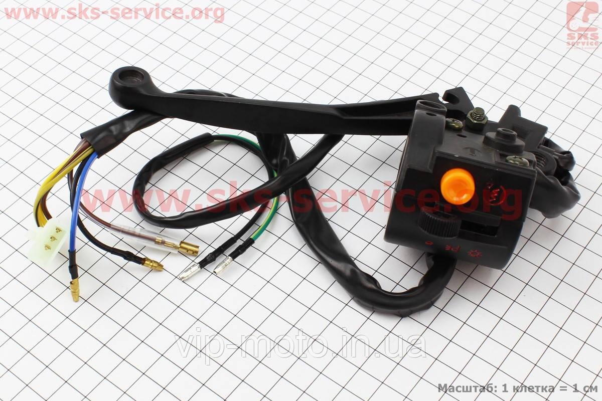 Блок кнопок на руле правый с рычагом (под зеркала М8) ALPHA