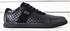 Туфли мужские черные кожаные стеганые