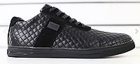 Туфли мужские черные кожаные стеганые , фото 1