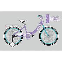 Детский двухколесный велосипед PROFI 16 дюймов для девочки сиреневый, Y1615 Princess