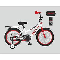 Детский двухколесный велосипед PROFI 18 дюймов, бело-черно-красный Space T18154