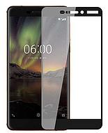Защитное стекло для Nokia 6.1 (0.3 мм, 3D, с олеофобным покрытием) цвет черный