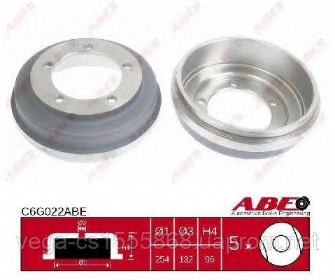 Тормозной барабан Abe C6G022ABE на Ford Transit / Форд Транзит