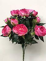 Пионы в букетах, 4 разных расцветок, 9 голов, 56 см., 225/195 (цена за 1 шт. + 30 гр.)