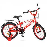 Детский двухколесный велосипедPROFI 18 дюймов для мальчиков (красный), Flash, T18171