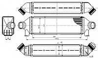 Интеркулер NRF 30887 на Ford Transit / Форд Транзит