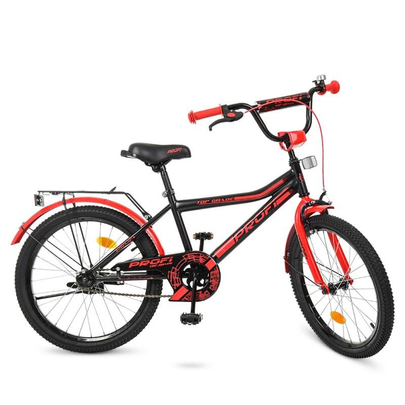 Детский двухколесный велосипед PROFI 20 дюймов для мальчика (красно-черный),Top Grade,Y20107