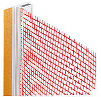 Профиль примыкающий оконный самоклеющийся с сеткой длина 2,5 м.п