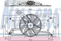 Вентилятор системы охлаждения двигателя Nissens 85697 на Ford C-MAX / Форд C-MAX