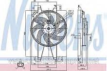 Вентилятор системы охлаждения двигателя Nissens 85767 на Ford Fusion / Форд Фьюжн