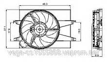 Вентилятор системы охлаждения двигателя NRF 47006 на Ford Fusion / Форд Фьюжн