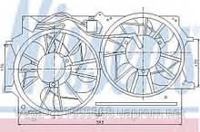 Вентилятор системы охлаждения двигателя Nissens 85215 на Ford Focus / Форд Фокус