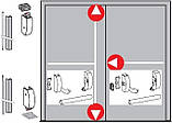 Антипаника Dorma PHA 2000 для 2-створчатой штульповой двери с 3-точечным запиранием без внешней ручки, фото 2