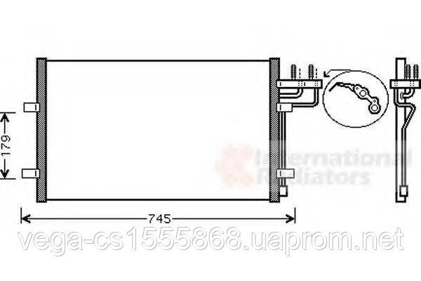 Радиатор кондиционера Van Wezel 18005367 на Ford Focus / Форд Фокус