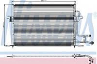 Радиатор кондиционера Nissens 94189 на Ford Mondeo / Форд Мондео