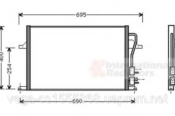 Радиатор кондиционера Van Wezel 18005259 на Ford Mondeo / Форд Мондео