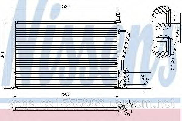 Радиатор кондиционера Nissens 94587 на Ford Fusion / Форд Фьюжн