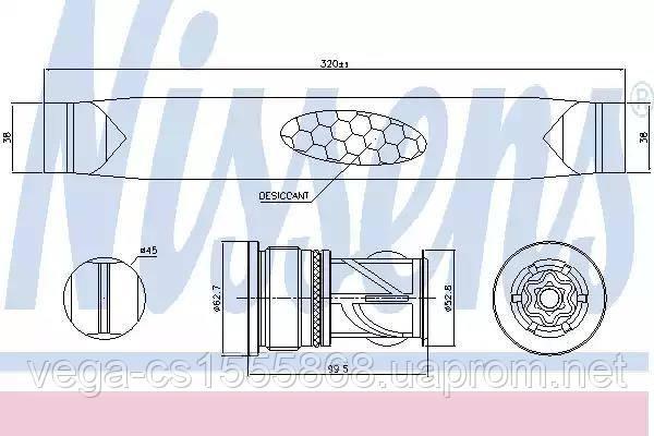 Осушитель Nissens 95566 на Ford C-MAX / Форд C-MAX