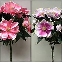 Нежные букеты искусственной манголии, 3 расцветки, 9 голов, 55 см., 195/165 (цена за 1 шт. + 30 гр.)