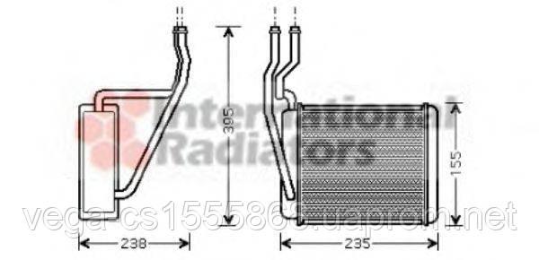 Радиатор печки Van Wezel 18006329 на Ford Fusion / Форд Фьюжн