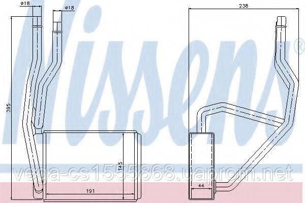 Радиатор печки Nissens 71765 на Ford Fusion / Форд Фьюжн