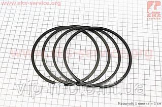 Кольца поршневые к-кт на 1 поршень D=122мм KM130/138