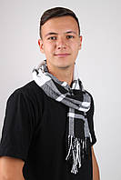 Мужские шарфы Famo Шарф Алекс белый с черным 169х30 см - 136121