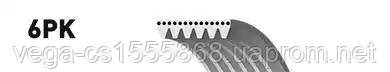 Поликлиновой ремень Gates 6PK1249SF на Ford C-MAX / Форд C-MAX