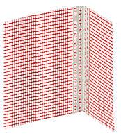 Уголок пластиковый с сеткой 2,5 м.п. ширина сетки на углах 10х15 см