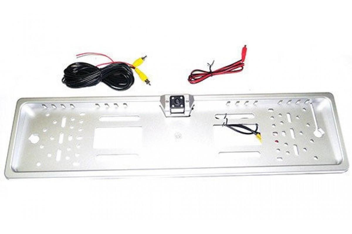 Автокамера в номерной рамке с 4 LED подсветкой номерная камера цветная 170 градусов парковочная