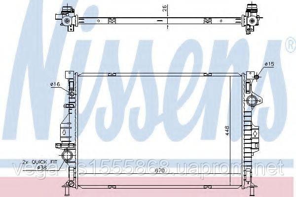 Радиатор охлаждения двигателя Nissens 69249 на Ford Kuga / Форд Куга