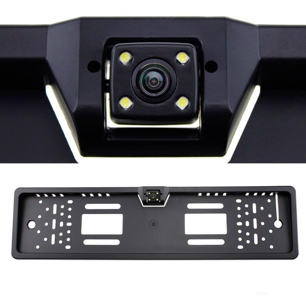 Камера підсвічування 16 LED чорний колір камера заднього огляду номерна камера заднього виду в рамці