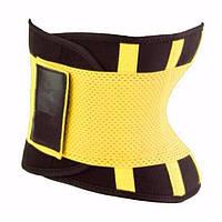 Пояс для похудения Hot Shapers Belt Power на липучке желтый, размер М - 130581