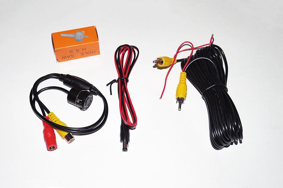 Мини-камера заднего вида Noisy 1858 в бампер для авто с подсветкой 8 диодов автокамера